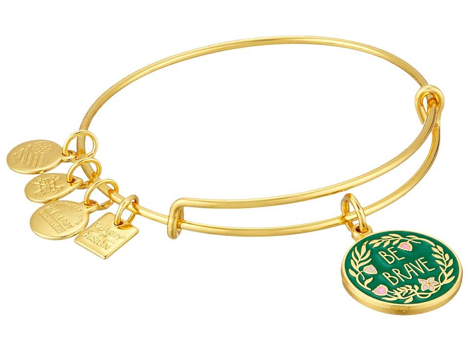 Alex and Ani - Charity By Design Be Brave Bangle (Shiny Gold) Bracelet