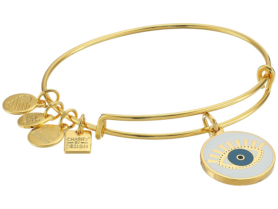 Alex and Ani - Charity By Design Meditating Eye Color Infusion Bangle (Shiny Gold) Bracelet