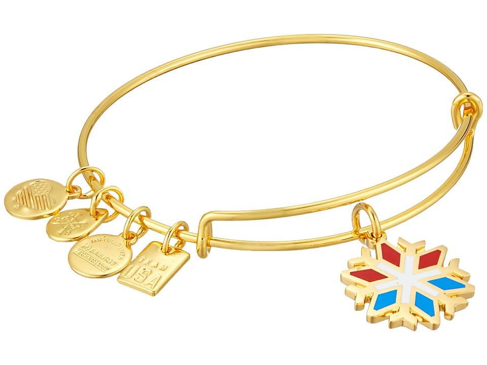 Alex and Ani - Team USA Snowflake Bangle (Shiny Gold) Bracelet