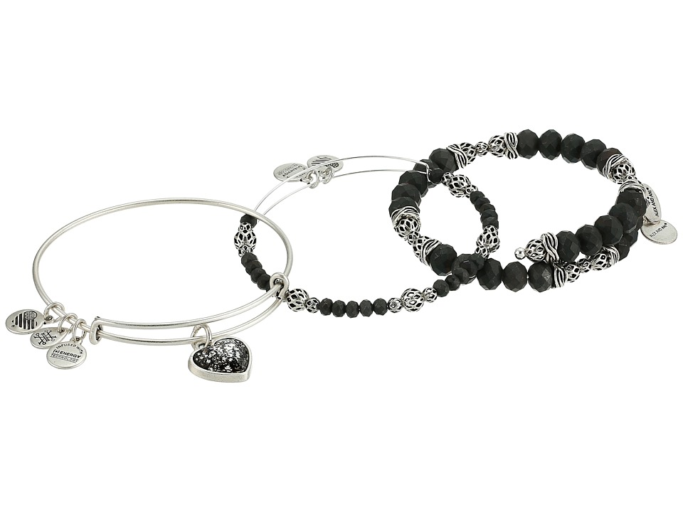 Alex and Ani - Crystal Patina Heart Set Of 3 Bracelet