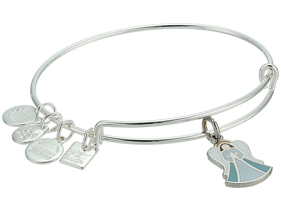 Alex and Ani - Charity By Design Angel Bangle (Shiny Silver) Bracelet
