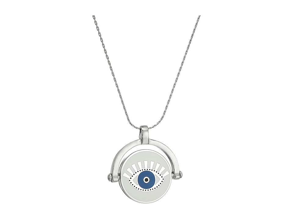 Alex and Ani - Charity By Design Meditating Eye Color Infusion EN Necklace (Shiny Silver) Necklace