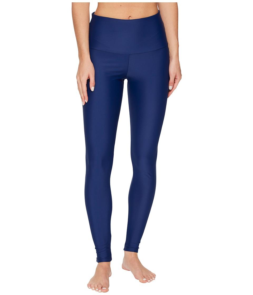 Onzie High Rise Leggings (Navy Spandex) Women