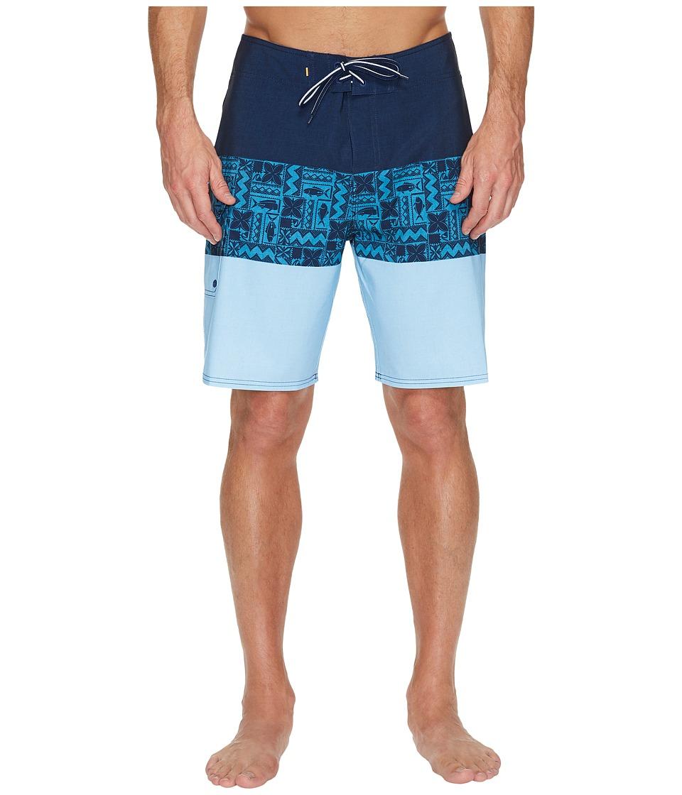 Quiksilver Waterman Fairway Tri Block Boardshorts (Estate Blue) Men