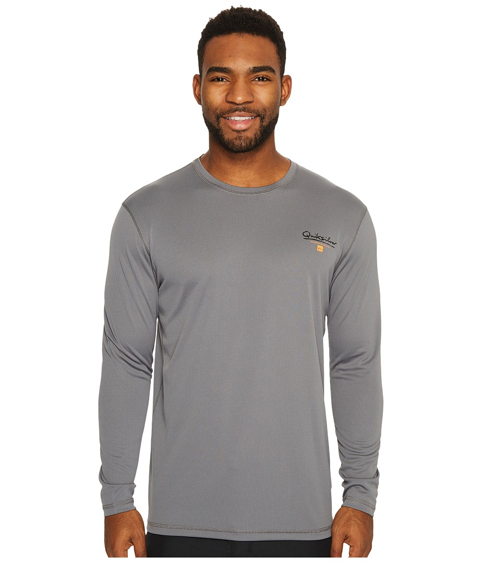 Quiksilver Waterman Gut Check Long Sleeve Rashguard (Quiet Shade) Men
