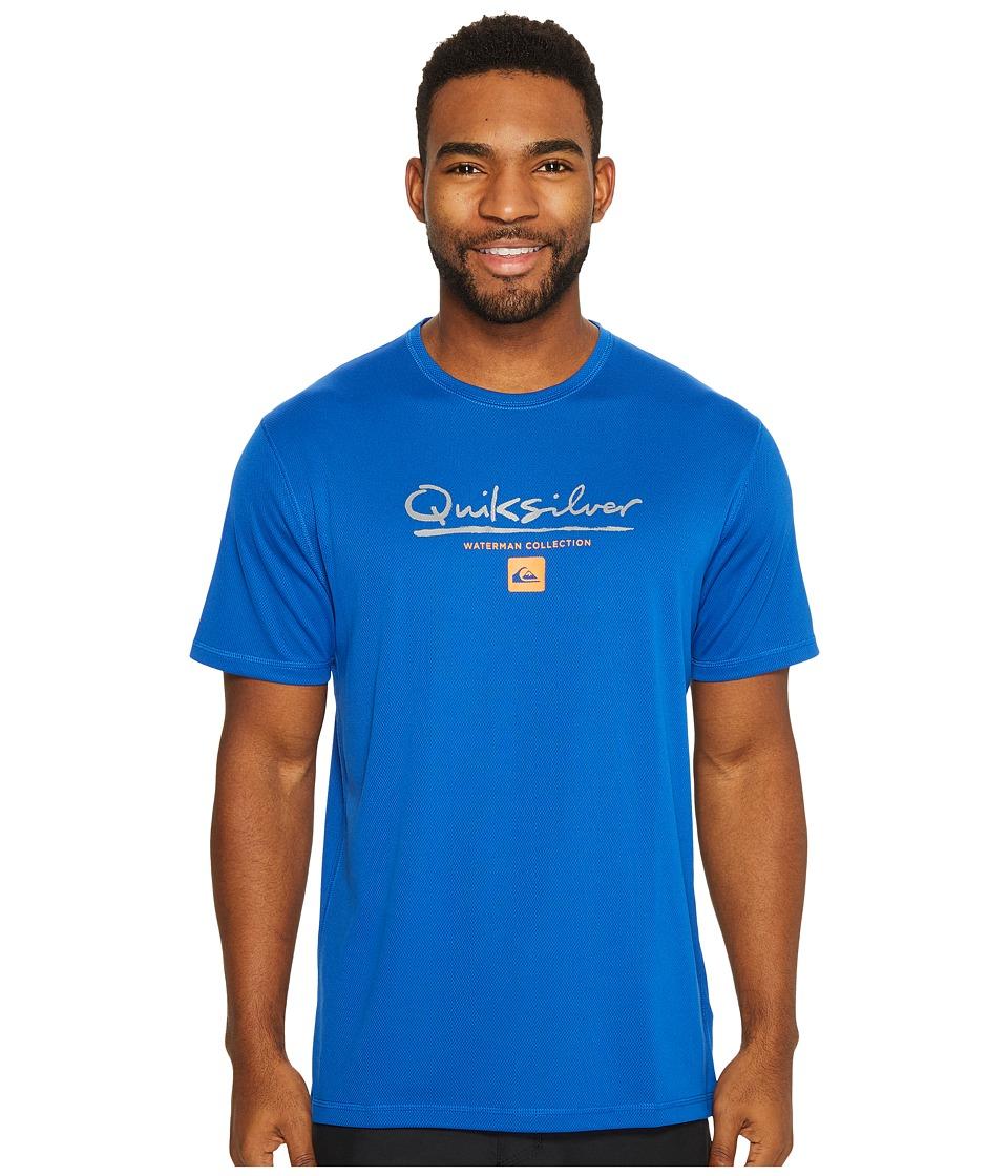 Quiksilver Waterman Gut Check Short Sleeve Rashguard (Olympian Blue) Men
