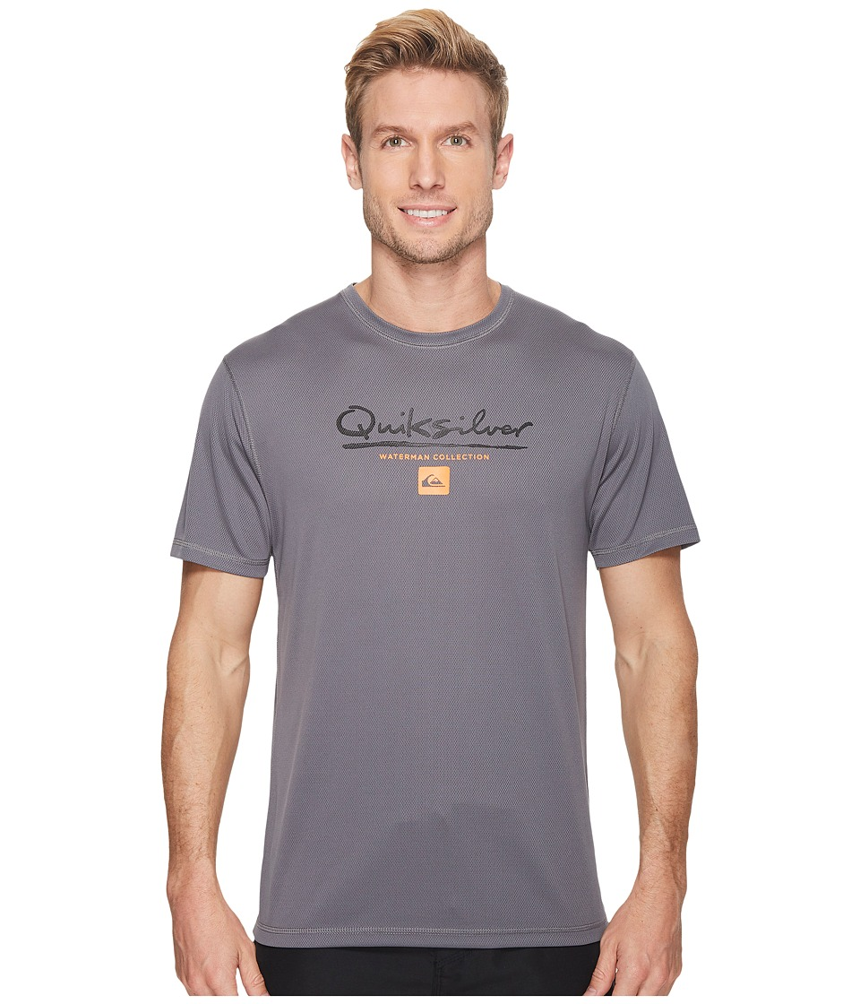 Quiksilver Waterman Gut Check Short Sleeve Rashguard (Quiet Shade) Men