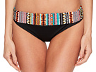 Jantzen Geo Multi Stripe Shirred Waist Bikini Bottom