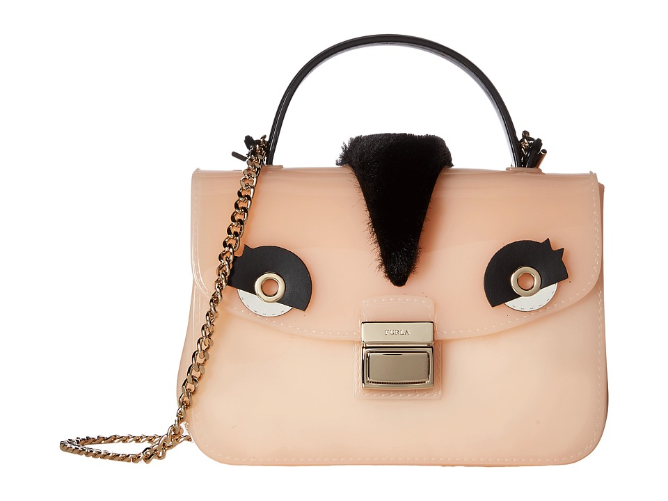 Furla Candy Tweet Sugar Mini Crossbody (Magnolia/Onyx) Cr...