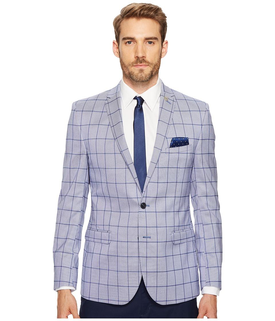 Nick Graham Suiting Blue Window Sport Coat (Blue) Men