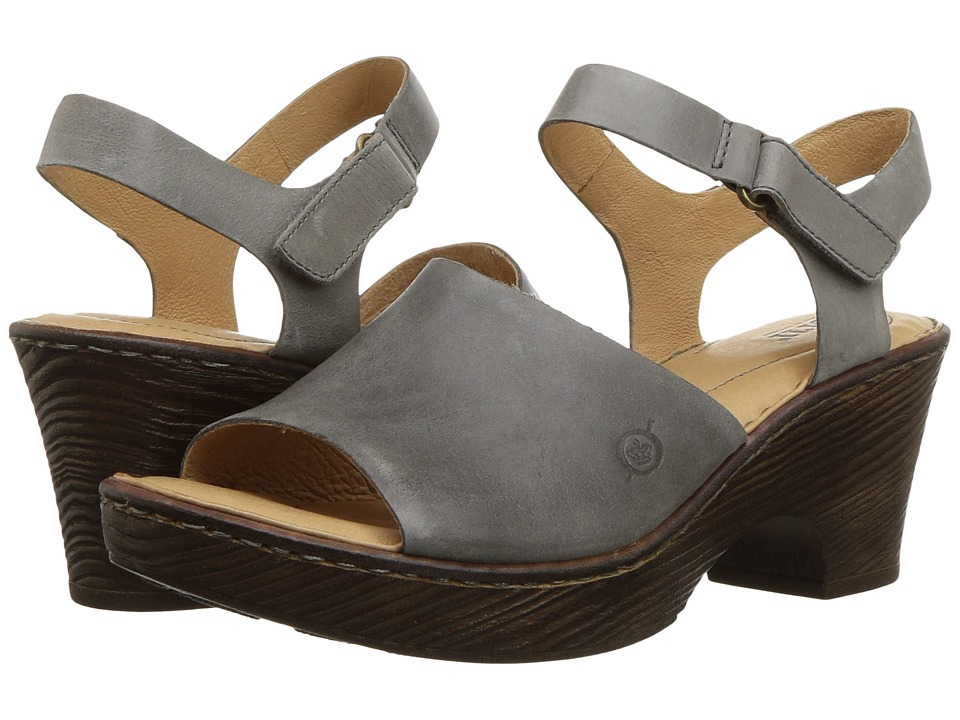Born - Canna (Grey Full Grain Leather) Womens  Shoes
