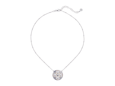 Majorica 8mm Round Luck Sterling Silver 16-18 Necklace - White