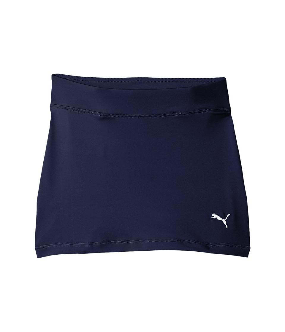 PUMA Golf Kids Solid Knit Skirt (Big Kids) (Peacoat) Girl