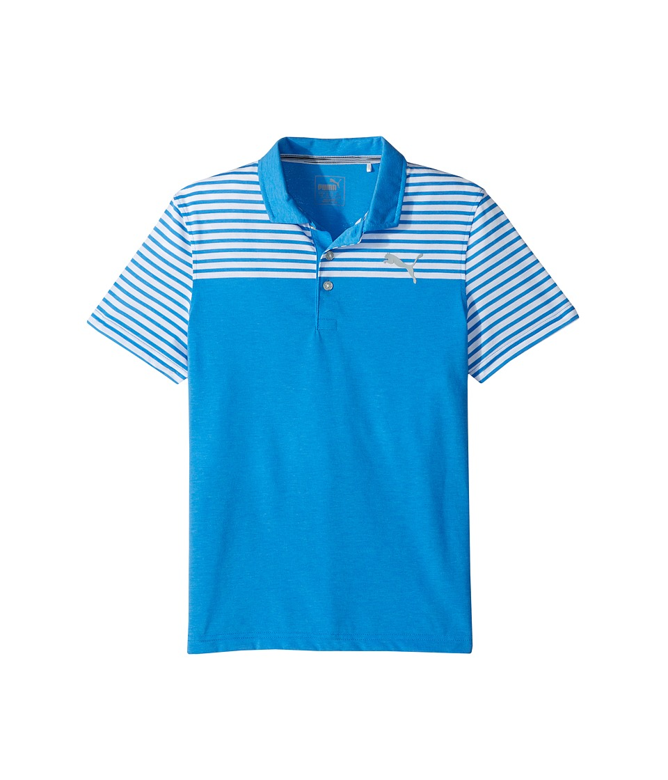 PUMA Golf Kids - Clubhouse Polo JR (Big Kids) (Electric Blue Lemonade) Boys Clothing