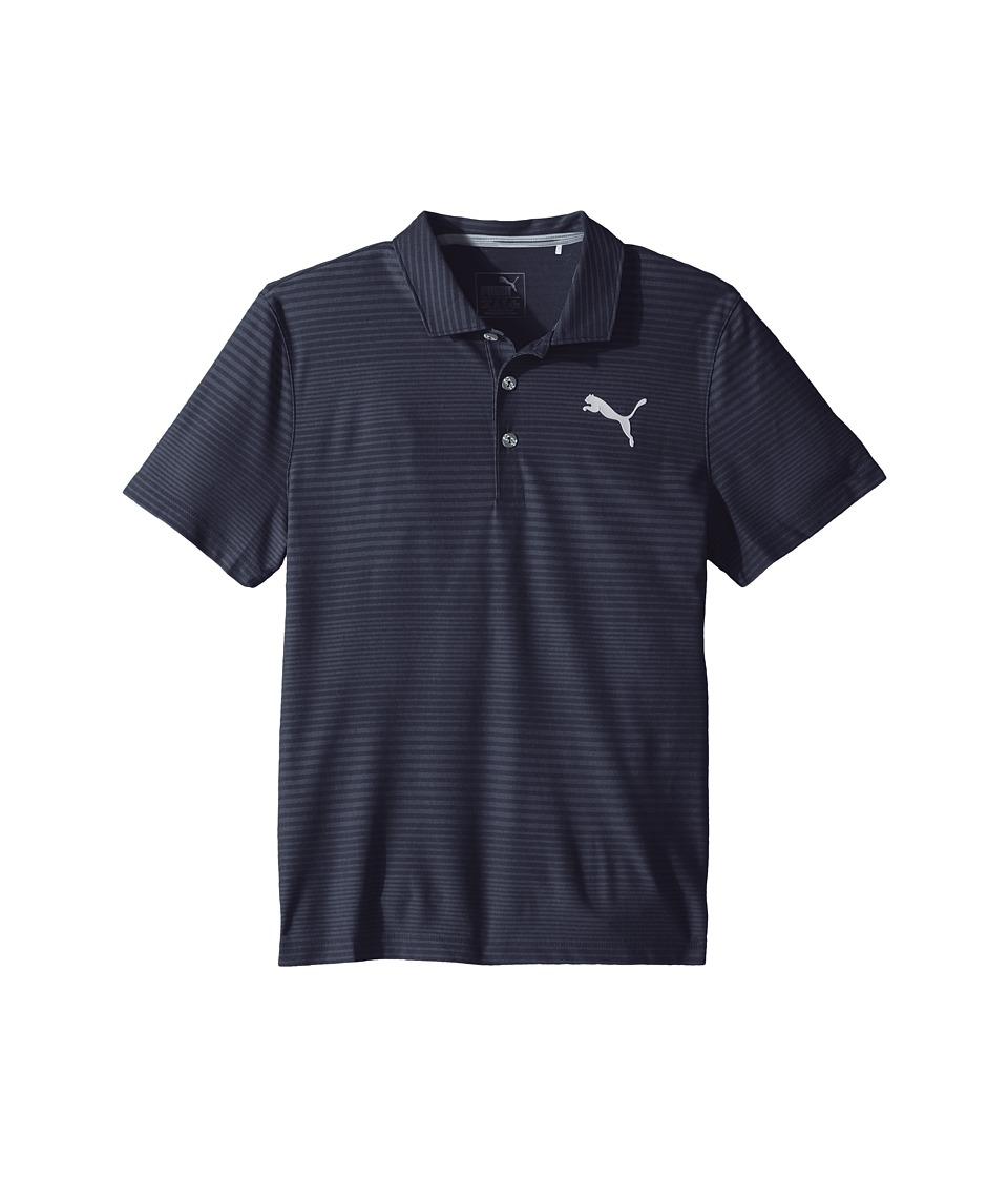 PUMA Golf Kids - Pounce Aston Polo JR (Big Kids) (Peacoat) Boys Clothing