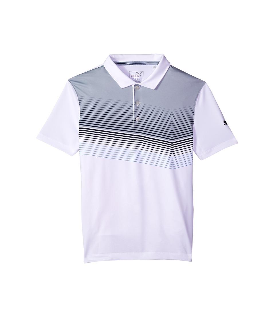 PUMA Golf Kids - Road Map Polo JR (Big Kids) (Bright White/Peacoat) Boys Clothing