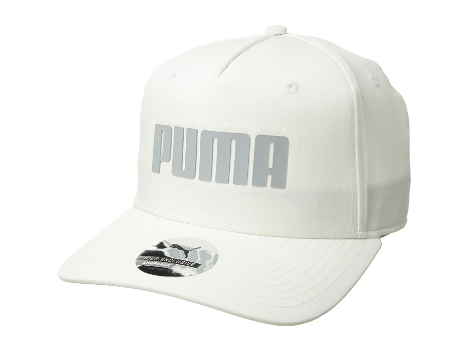 PUMA Golf Kids - Go Time Snapback (Big Kids) (Bright White) Caps
