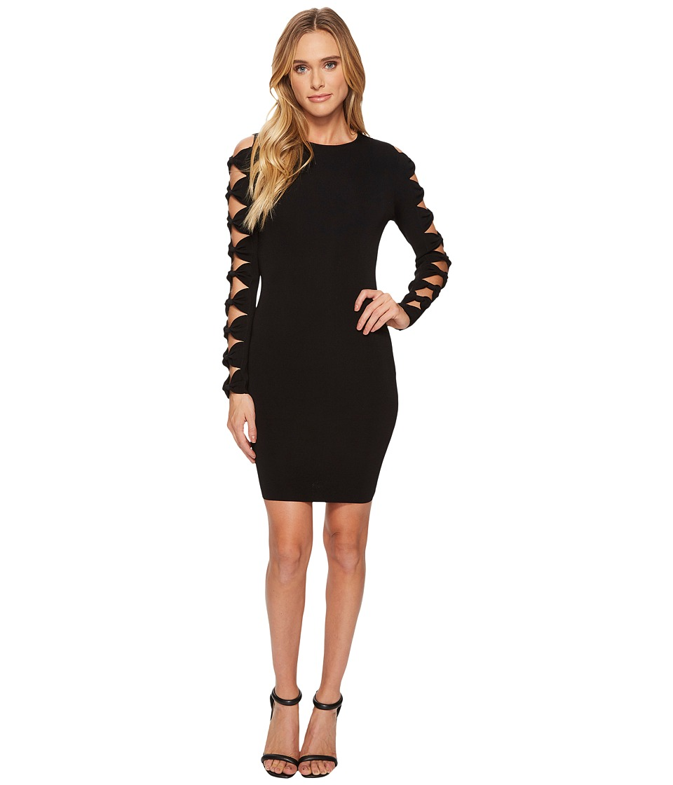Ted Baker Jayney Knitted Sleeve Detail Bodycon (Black) Women