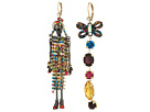 Betsey Johnson Gold and Hematite Doll Earrings