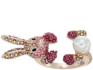 Betsey Johnson Pink and Rose Gold Bunny Ring
