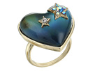 Betsey Johnson Blue and Gold Heart Mood Ring