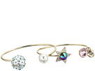 Betsey Johnson Multicolor and Gold Star Bangle Set