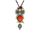 Betsey Johnson Gold and Multicolor Owl Pendant Necklace