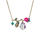 Betsey Johnson Purple and Gold Owl Pendant Necklace
