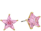 Betsey Johnson Pink and Gold CZ Star Stud Earrings