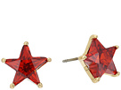 Betsey Johnson Red and Gold Star Stud Earrings