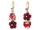 Betsey Johnson Betsey Johnson Pink and Gold Non-Matching Heart Earrings