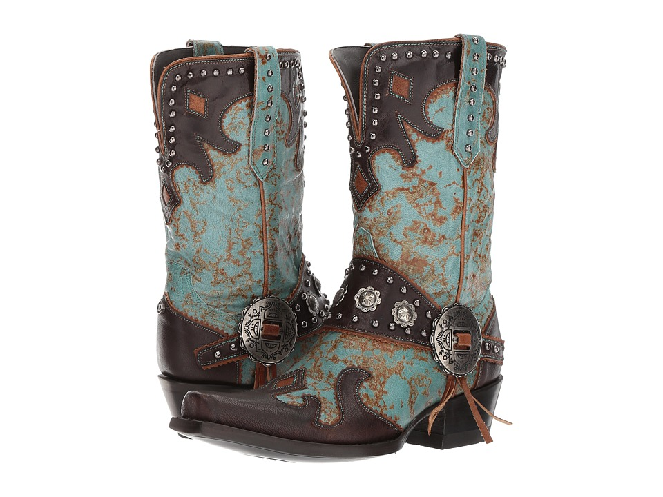 Double D Ranchwear by Old Gringo - Ranchitos Ridge (Turquoise/Chocolate) Womens Boots
