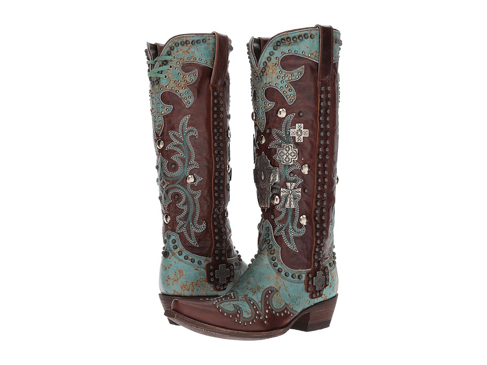 Double D Ranchwear by Old Gringo - Ammunition (Turquoise/Brass) Womens Boots