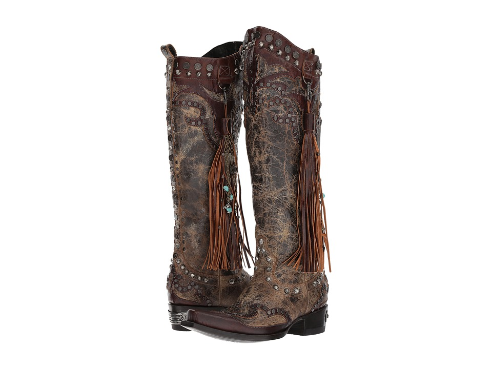 Double D Ranchwear by Old Gringo - Ybarra (Tan/Brass) Womens Boots