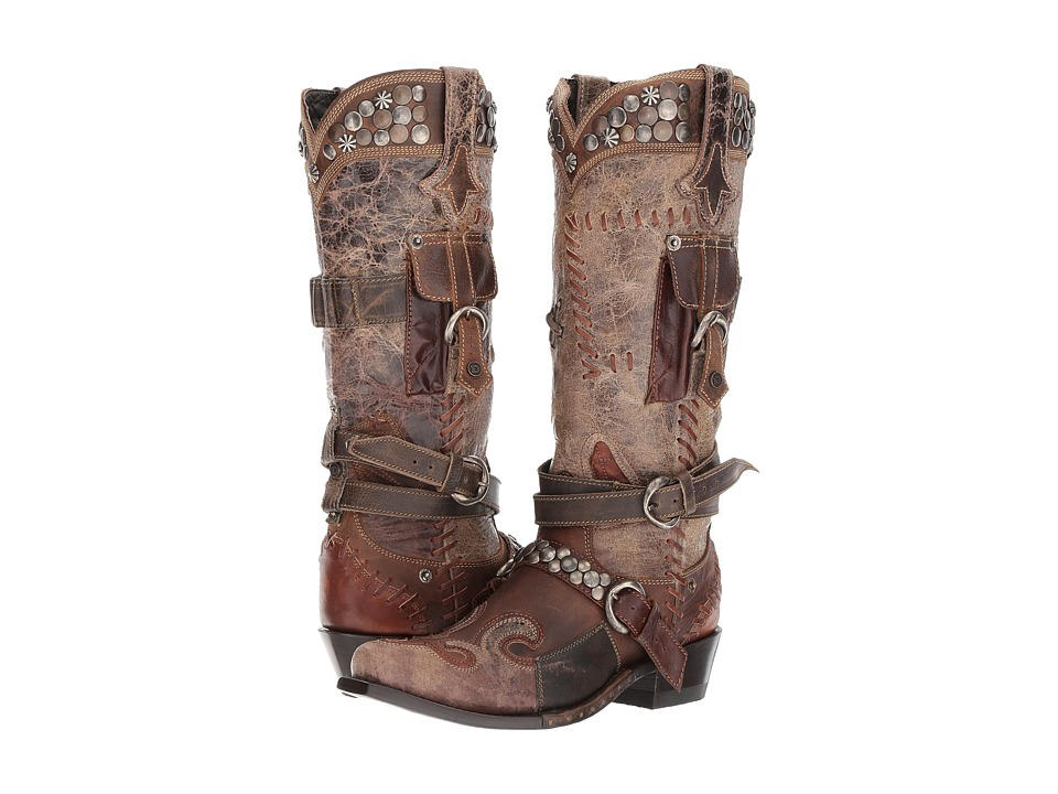 Double D Ranchwear by Old Gringo - Frontier Trapper (Black/Yellow) Womens Boots