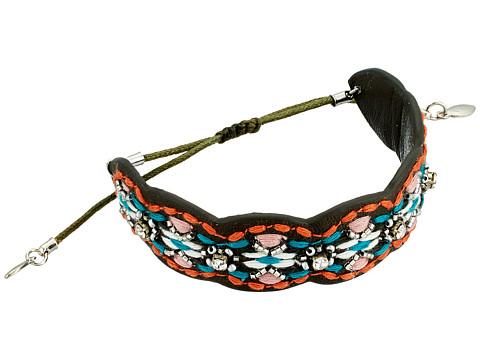 Rebecca Minkoff Stitched Guitar Strap Pulley Bracelet - Grey