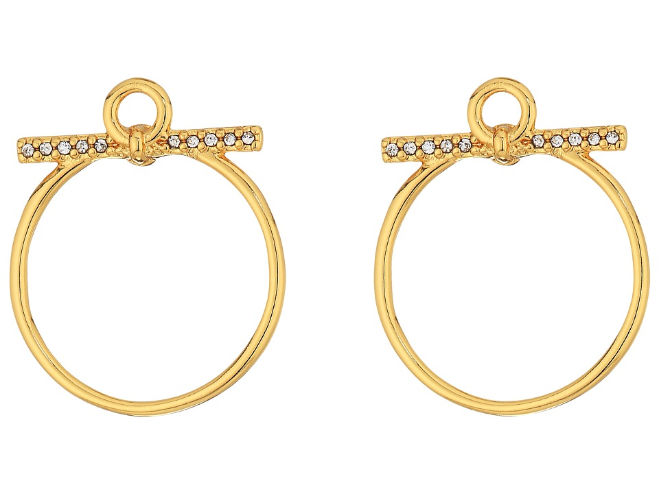 Rebecca Minkoff - Front Facing Hoop Earrings (Gold) Earring