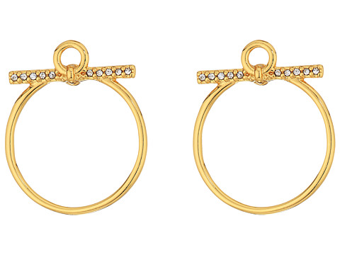 Rebecca Minkoff Front Facing Hoop Earrings - Gold