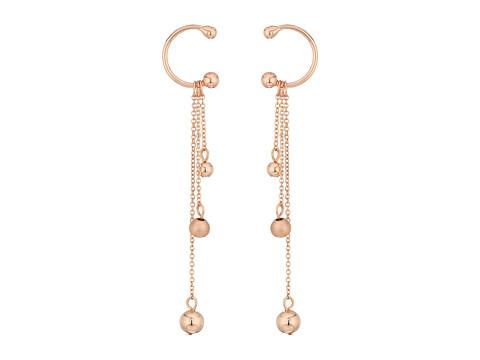 Rebecca Minkoff Linear Triple Drop Sphere Earrings - Rose Gold