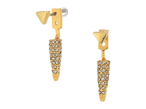 Rebecca Minkoff Pave Spike Earrings - Gold/Black Diamond
