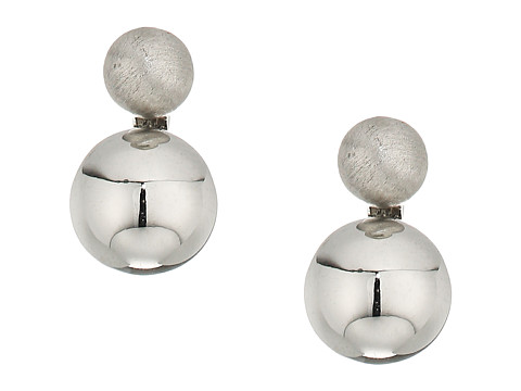 Rebecca Minkoff Mini Double Sphere Stud Earrings - Silver
