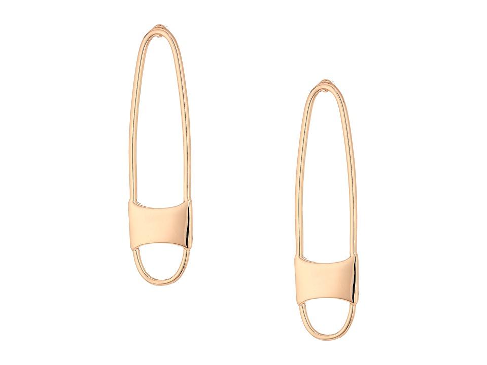 Rebecca Minkoff - Runway Pin Earrings (Rose Gold) Earring