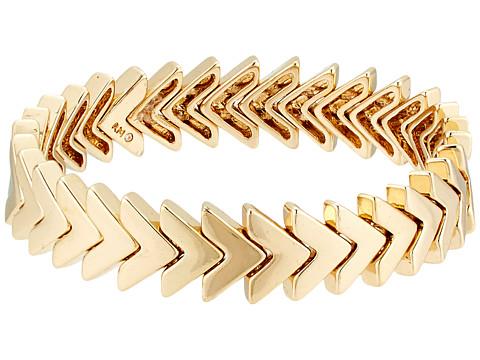 Rebecca Minkoff Chevron Stretch Bracelet - Gold