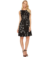 Taylor - Floral Scuba Fit-and-Flare Dress