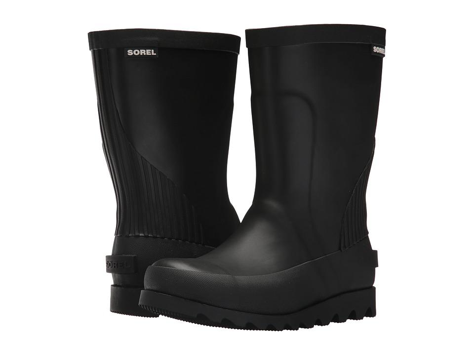 SOREL Kids - Rain Boot (Little Kid/Big Kid) (Black/Sea Salt) Kids Shoes