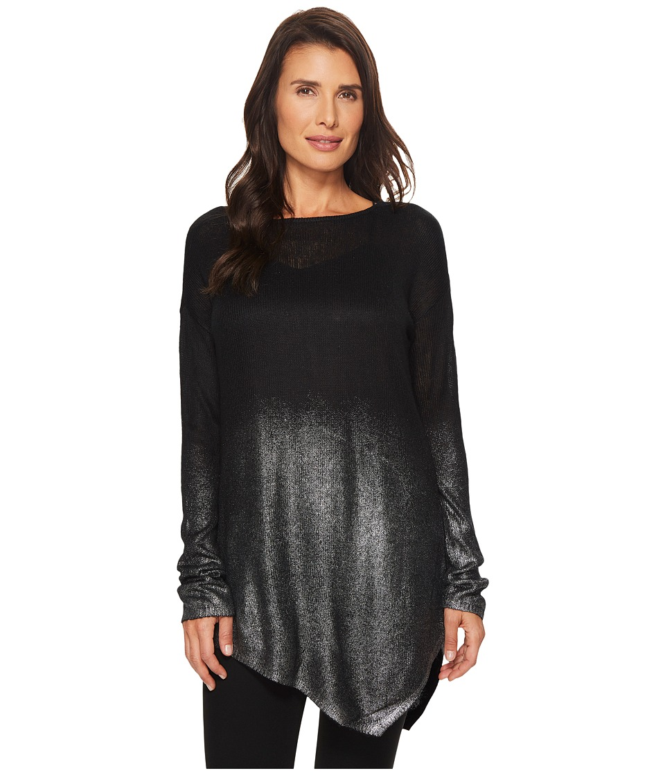 TWO by Vince Camuto - Long Sleeve Asymmetrical Hem Foil Ombre Dip
