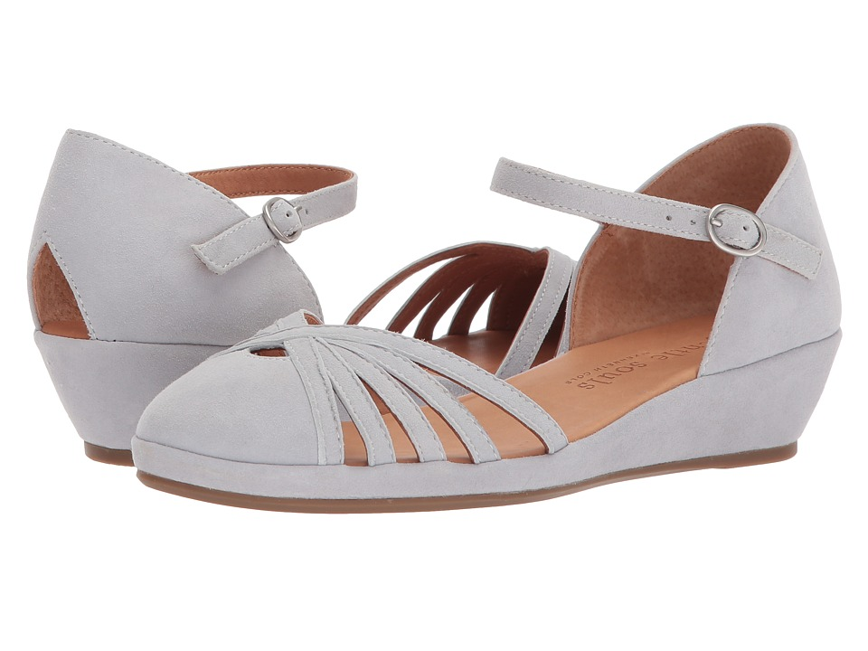Retro Vintage Flats and Low Heel Shoes Gentle Souls - Naira Winter Blue Womens  Shoes $199.00 AT vintagedancer.com