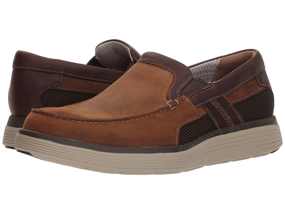 Clarks - UnAbode Free (Light Tan Leather) Mens Slip on  Shoes