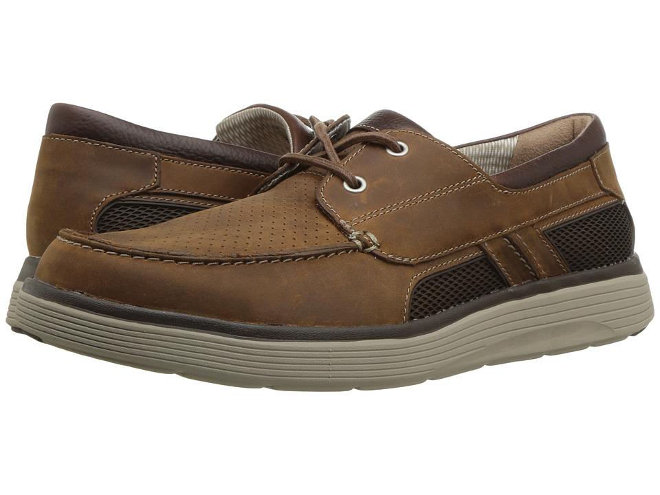 Clarks - Un Abode Step (Dark Tan Leather) Mens Slip on  Shoes