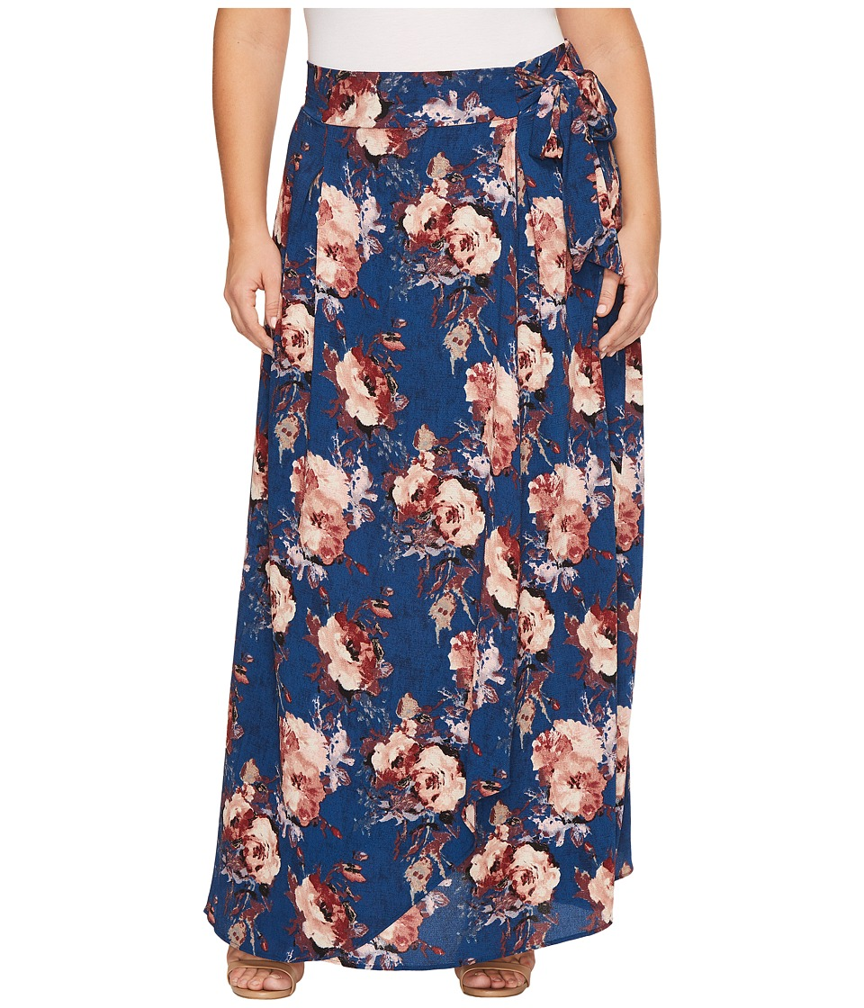 Kiyonna Celine Chiffon Maxi Skirt (Twilight Rose Print) Women